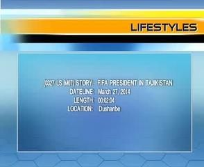 News video: (0327 LS M07) FIFA PRESIDENT IN TAJIKISTAN